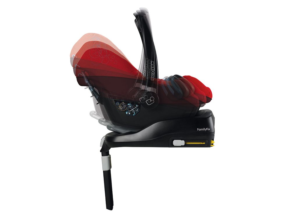 maxi-cosi cabriofix baby car seat and familyfix base
