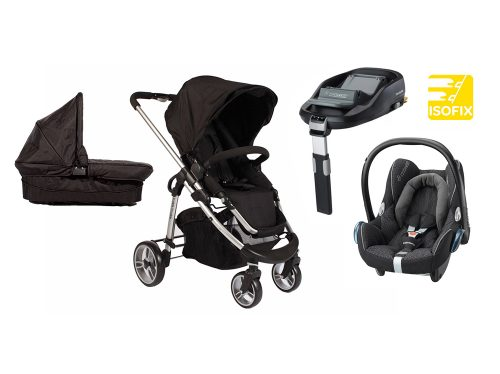 Single Delux isofix travel system