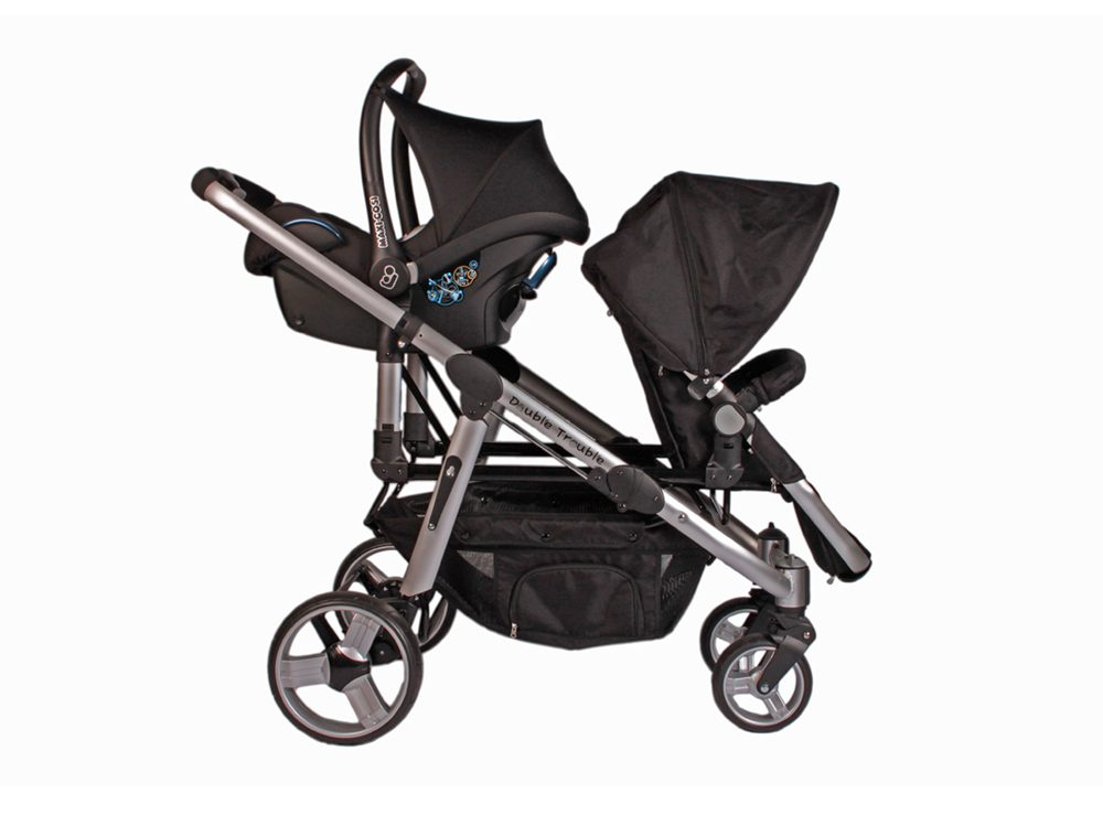 Sibling Travel System with car seat and stroller seat